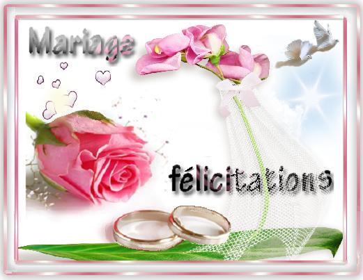 felicitations mariage maries. Black Bedroom Furniture Sets. Home Design Ideas