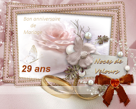 anniversaire de mariage 29 ans noces de velours. Black Bedroom Furniture Sets. Home Design Ideas