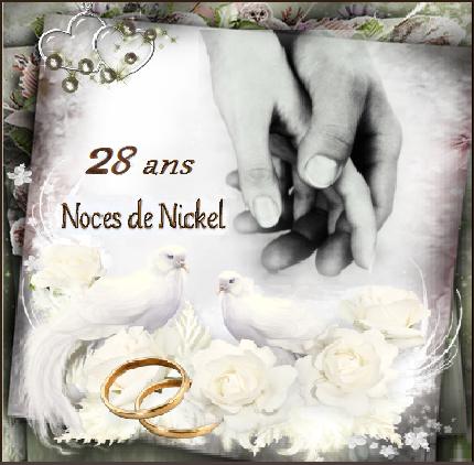 Anniversaire De Mariage 28 Ans Noces De Nickel