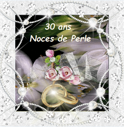 anniversaire mariage noce de perle 30 ans. Black Bedroom Furniture Sets. Home Design Ideas