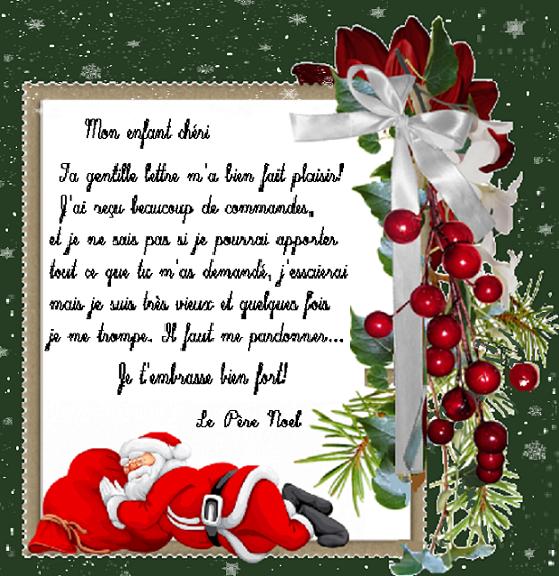 reponse de lettre du pere noel Lettre réponse du Père Noël /décor numéro 2 reponse de lettre du pere noel
