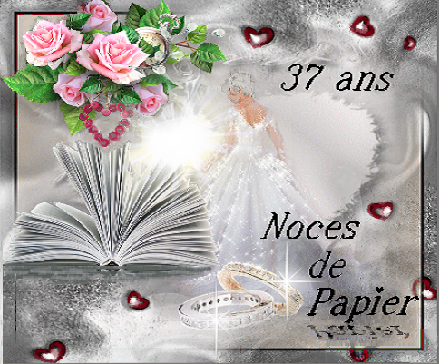 anniversaire 37 ans de mariage noces de papier. Black Bedroom Furniture Sets. Home Design Ideas