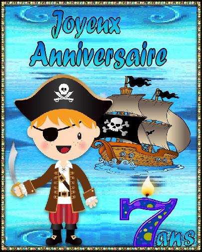 Joyeux Anniversaire 7 Ans Pirate