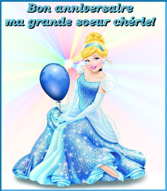 Bon Anniversaire Grande Soeur Cendrillon Et Ballon Centerblog