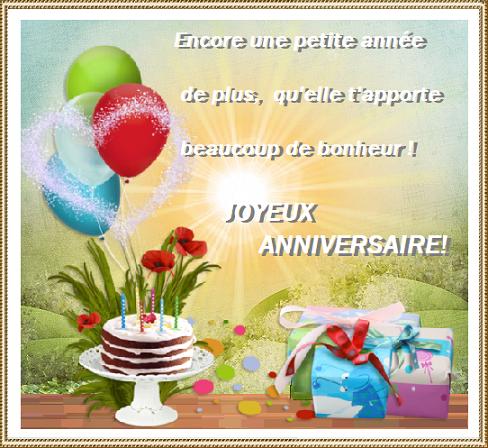 Texte Pour Anniversaire Ballons Gateau Et Cadeaux
