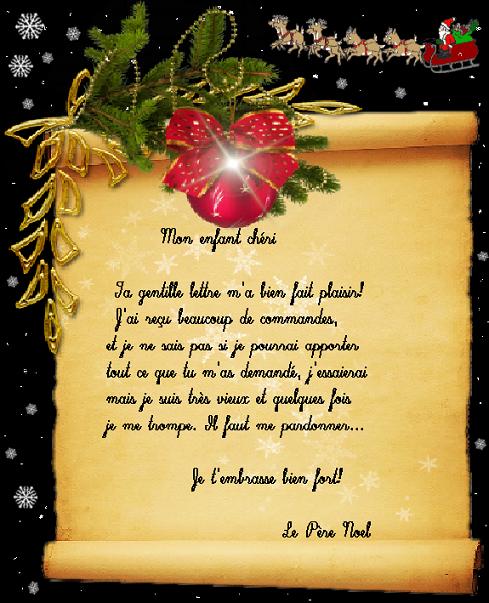 Lettre De Reponse Au Pere Noel.Lettre Reponse Du Pere Noel