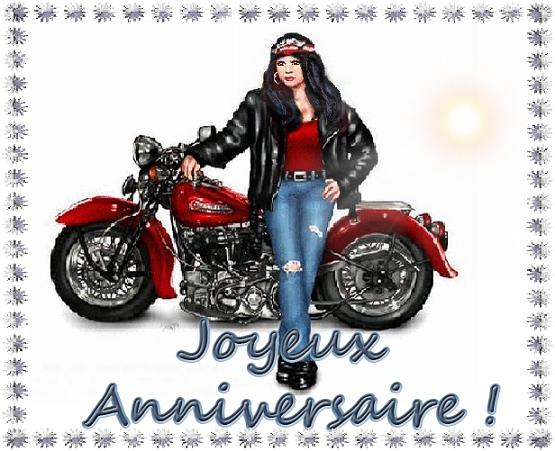 Joyeux Anniversaire Moto Femme.Joyeux Anniversaire Fille A La Moto