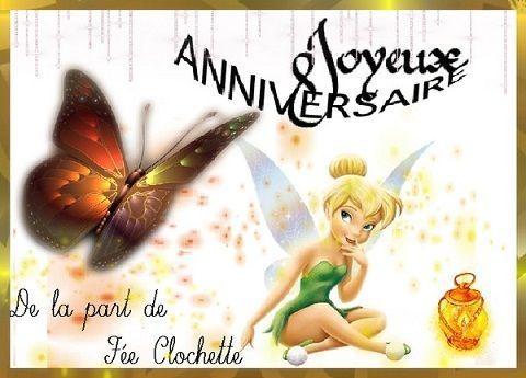 Joyeux anniversaire f e clochette et papillon - Fee clochette ombre ...