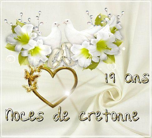 19 Ans De Mariage Noces De Cretonne